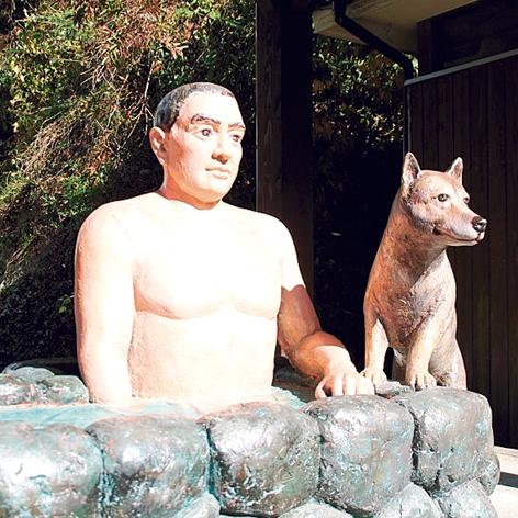 川内高城温泉の西郷入浴像