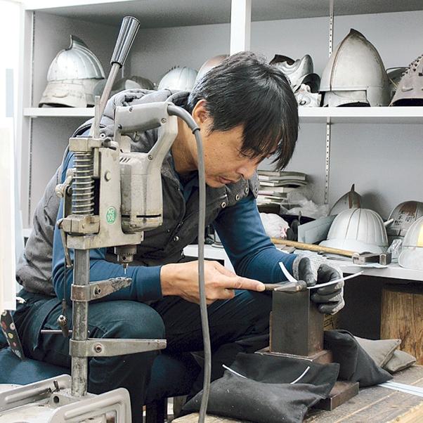 甲冑工房 丸武の制作過程