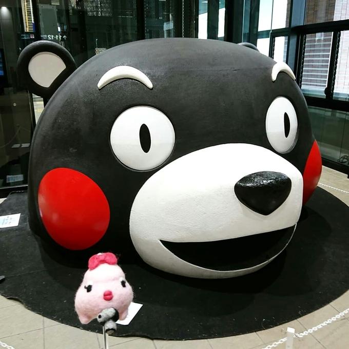 熊本駅の「くまモン」