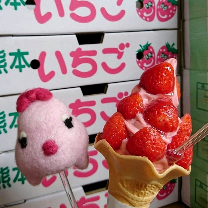 TENTE「オニ盛りいちごソフトクリーム」