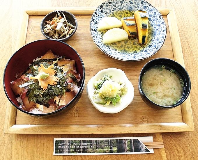 おおすみ食堂さのぼい「さのぼい丼定食」