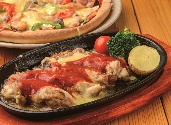 くつろぎの里 湯田ん蔵「鶏肉チーズ焼き定食」