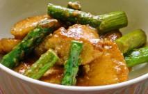 古い記事: 鶏肉とアスパラのゴマ風味炒め | ゴマだれで、簡単に!