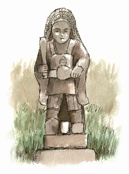 名貫の田の神像