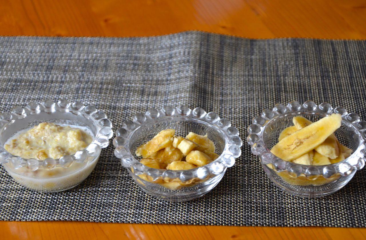 離乳食 バナナの固さを変化させる