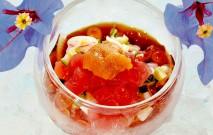 古い記事: 夏野菜と海鮮のポン酢ジュレ | 黒酢の達人レシピ