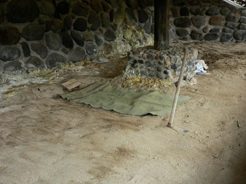 十島村悪石島「湯泊温泉公園砂蒸し温泉」