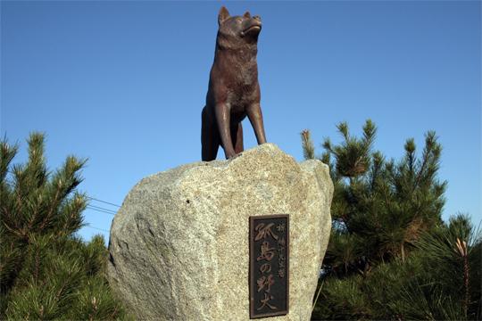 孤島の野犬像(薩摩川内観光物産ガイド「こころ」より)