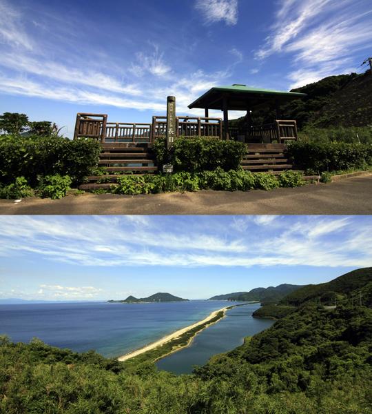 長目の浜が綺麗に見える田之尻展望所。