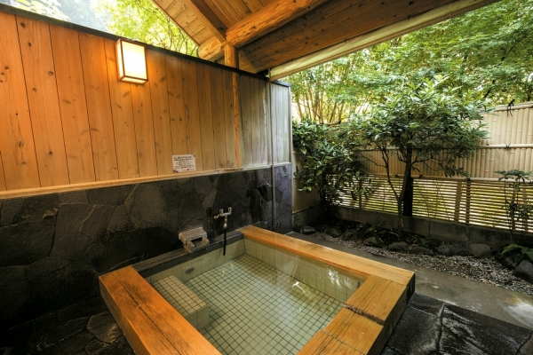 家族湯は木造と石造りの2種類があり、神経・関節痛や疲労回復に効果があるとされる強アルカリ性のお湯が特徴