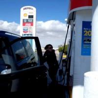 セルフのガソリンスタンド。初体験