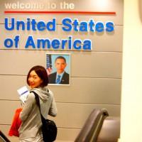 LAの空港で、オバマ大統領から『アメリカ合衆国へようこそ!』って。