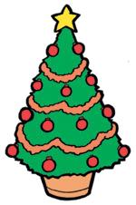 376English-クリスマスツリー画像