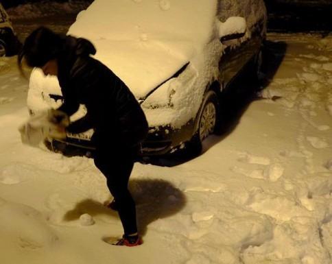 オォーーー雪だ!