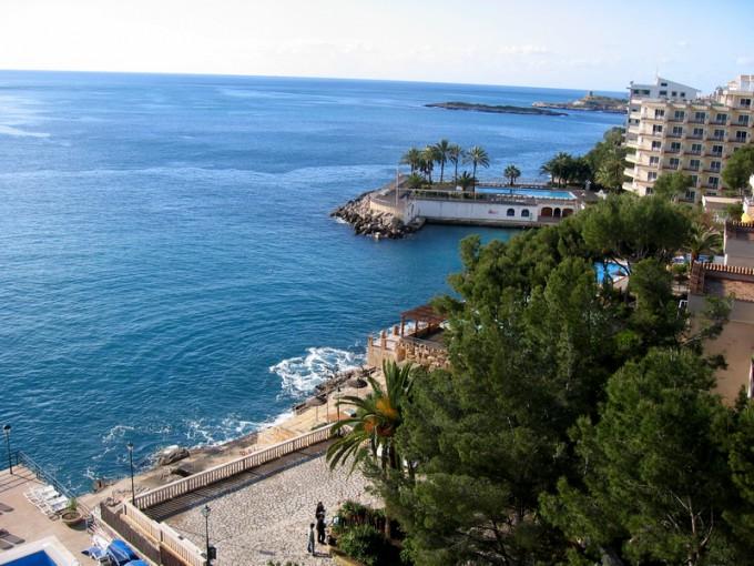スペインのホテルからの景色