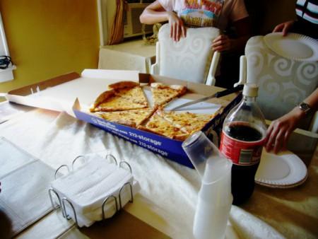 大きなピザ!