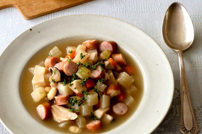 門倉多仁亜のドイツ風具だくさんスープ