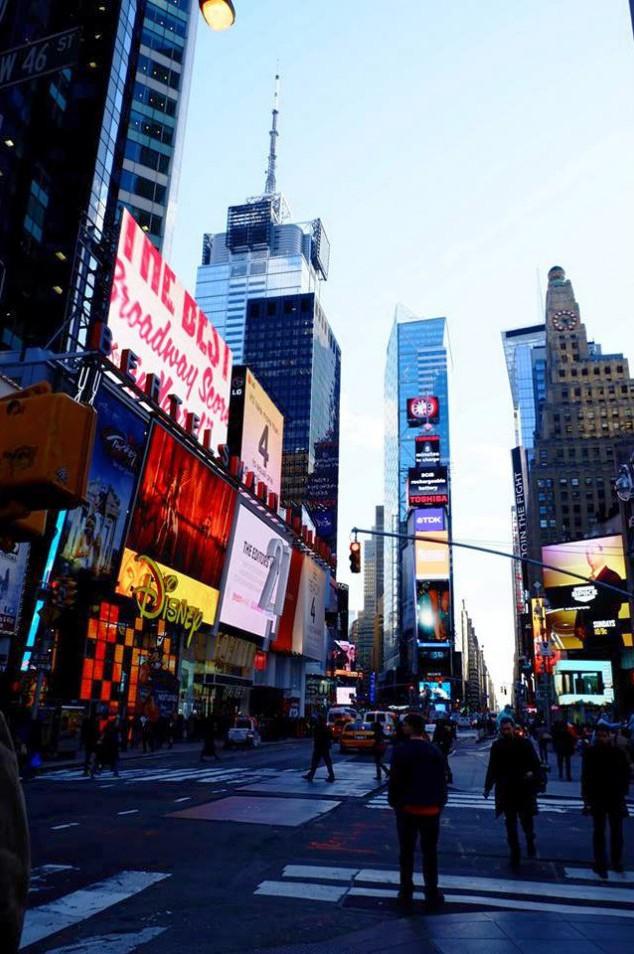 NY タイムズスクエア。映画の中にいるみたい
