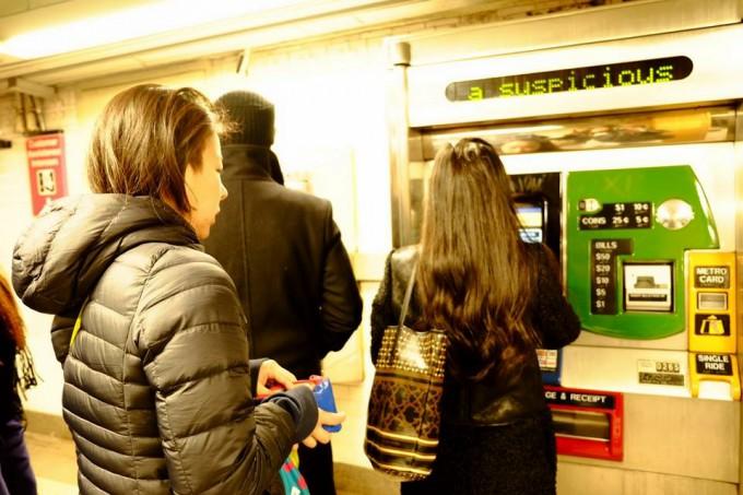 うふふ、NY地下鉄、コワくない(と思いたい)