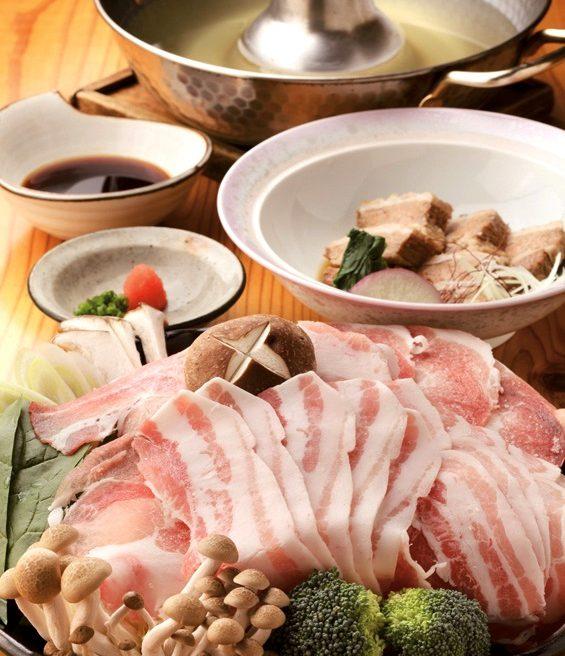 魚処 まんぼうの鹿籠豚のしゃぶしゃぶと角煮