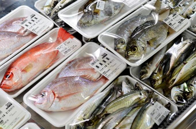 道の駅「阿久根」の新鮮な魚介類