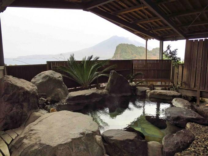 海潟温泉江洋館 露天風呂