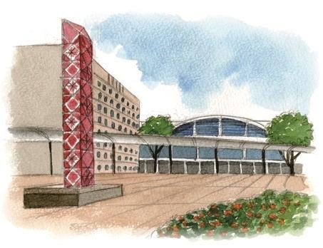 JR鹿児島中央駅の西口イラスト