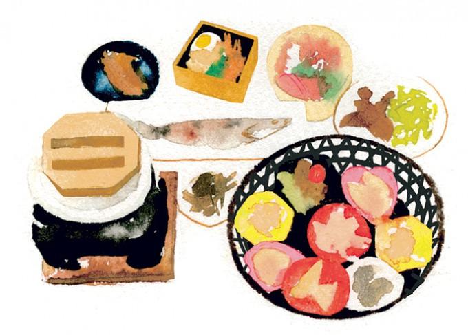 """""""花かご""""に好きな小鉢を詰め込んで。ずらり並んだ九州の地酒と味わいたい"""