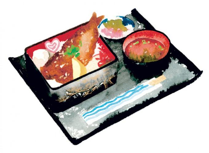 枕崎鰹大トロ丼(吸い物付き)800円