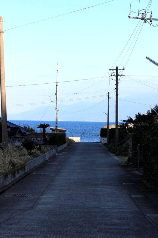 海の向こうには、屋久島の島影が・・