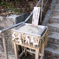 志賀島神社では砂で身を清める