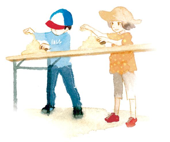 子どもたちに大人気の「かつお節削り大会」