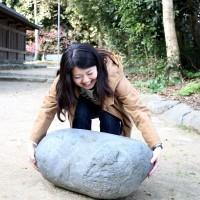 志賀海神社の力石