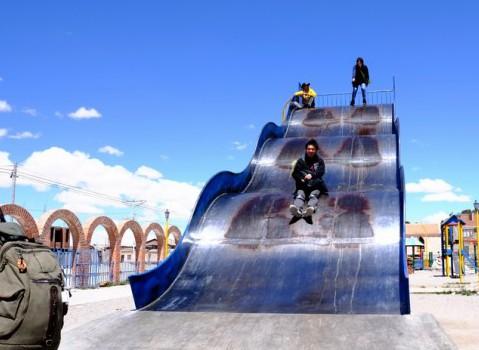公園のでっかい滑り台