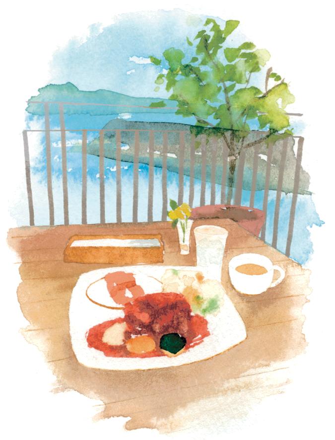 「羽島テールシチュー」は、レギュラー(1,480円)、テールの輪切り丸ごとのラージ(1,780円)がある。ライスかパン、スープ付き。