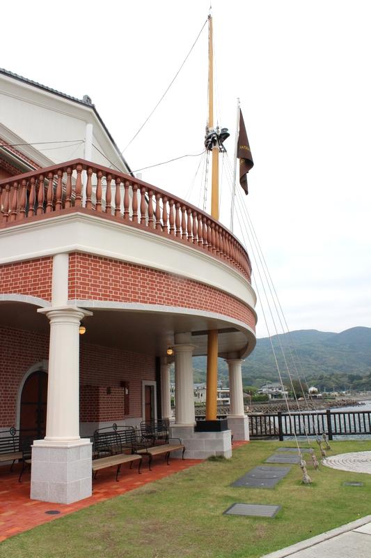 薩摩藩英国留学生記念館デッキ