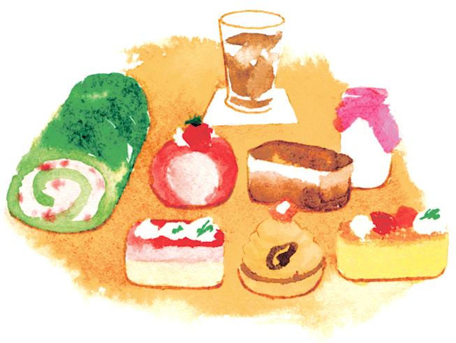 ケーキバイキングはドリンク付きで、女性1,404円、男性1,728円