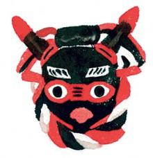 地元の羽島崎神社の太郎太郎祭りに登場する牛をモチーフにした土産品。館内ショップで