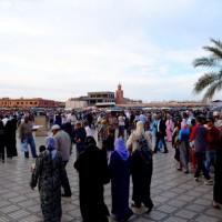たくさんの人と「he~y!!!」っつって握手したジャマ・エル・フナ広場