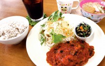 山café 寺山レストランのハンバーグランチ