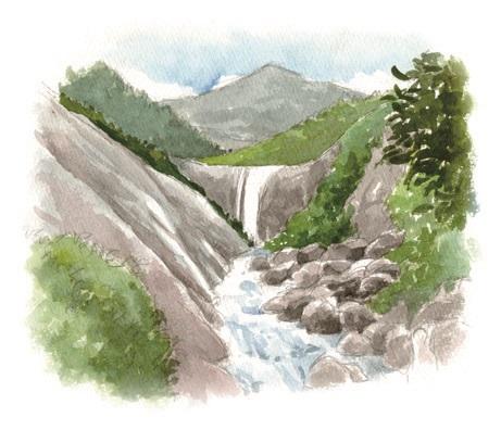 千尋の滝イラスト