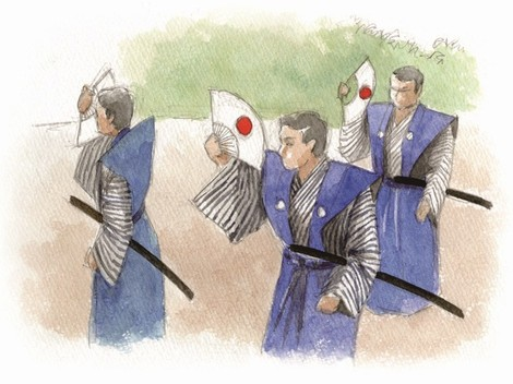 如竹踊りイラスト