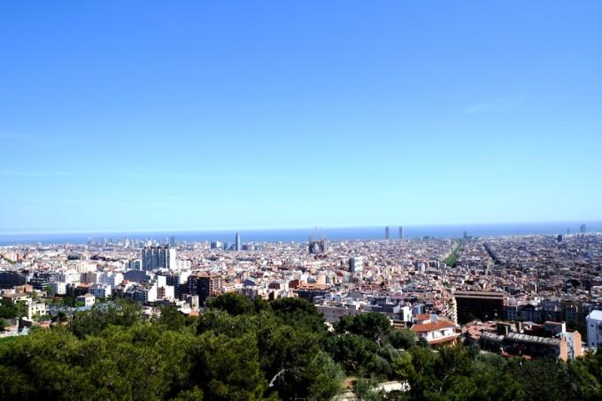 バルセロナの街が一望!絶景!