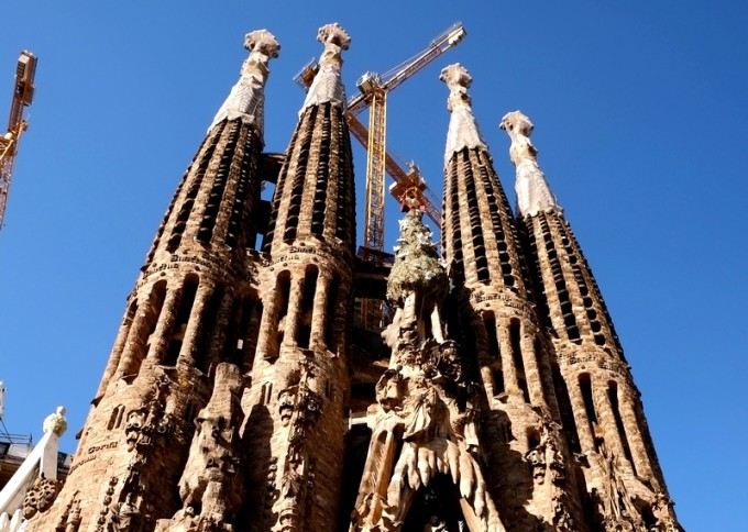 バルセロナ・サグラダファミリアの尖塔