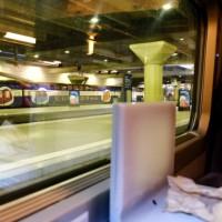 列車でパリを出発!!