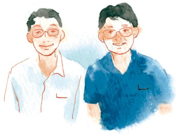 曽於市経済課の上迫直一さん(右)と國武次宏さん