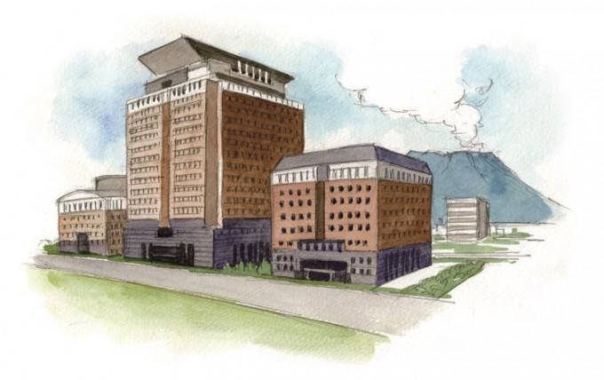 真砂エリアの代表的な建物・県庁