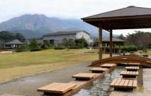 溶岩なぎさ公園から望む桜島