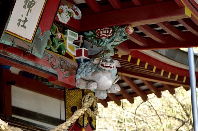 花尾神社社殿の彫刻