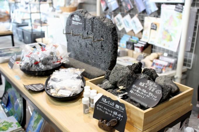 桜島ビジターセンターのお土産コーナー